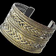 Wide Wire Cuff Bracelet