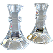 Pair Bleikristall Candlesticks Lead Crystal Germany