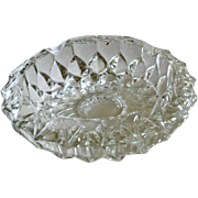 Large Ashtray Heavy Faceted Glass