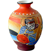 Miniature Vase Satsuma with Seal and Japan Label