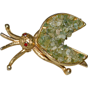 Flying Insect Bug Pin BSK Green Stone Chips