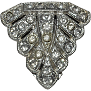 Deco Era Rhinestone Pin or Fur Clip Marked Goody