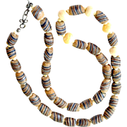 Necklace Trade Type Handmade Glass and Bone Beads