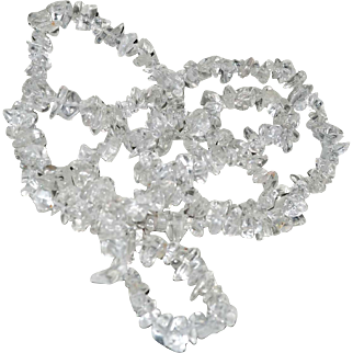 Necklace Clear Quartz Shards 34 Inches Long