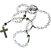 Rosary Glass Beads Non Magnetic Hematite Cross