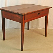 Federal Work Table in Original Red Surface