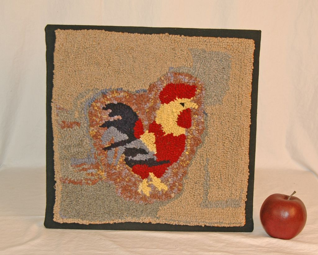 Small Hooked Rooster Mat