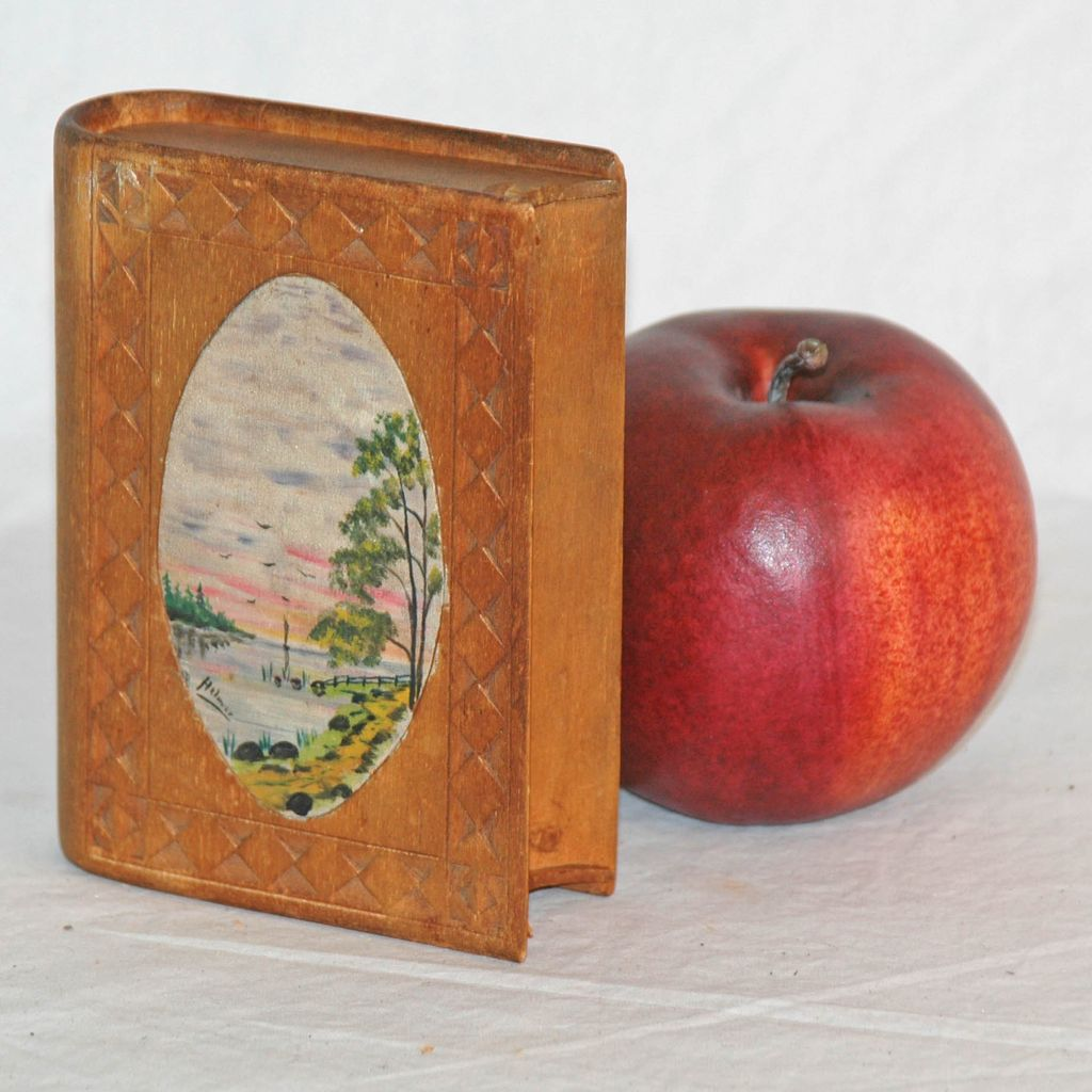 Chip Carved And Painted Spruce Gum Box From Asgoodasold On