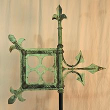 Early Form of Copper Banneret Weathervane