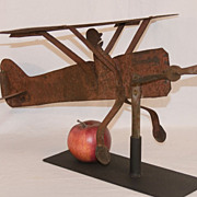1920's Sheet Metal Airplane Weathervane