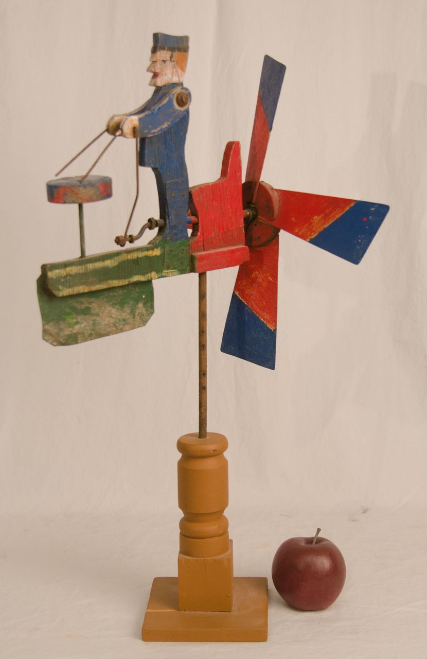 Drumming Man Whirligig From Asgoodasold On Ruby Lane