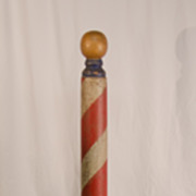 Free Standing Wooden Barber Pole