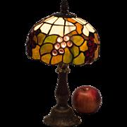Tiffany Style Art Glass Boudoir Lamp