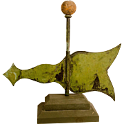 Copper Banner Weathervane