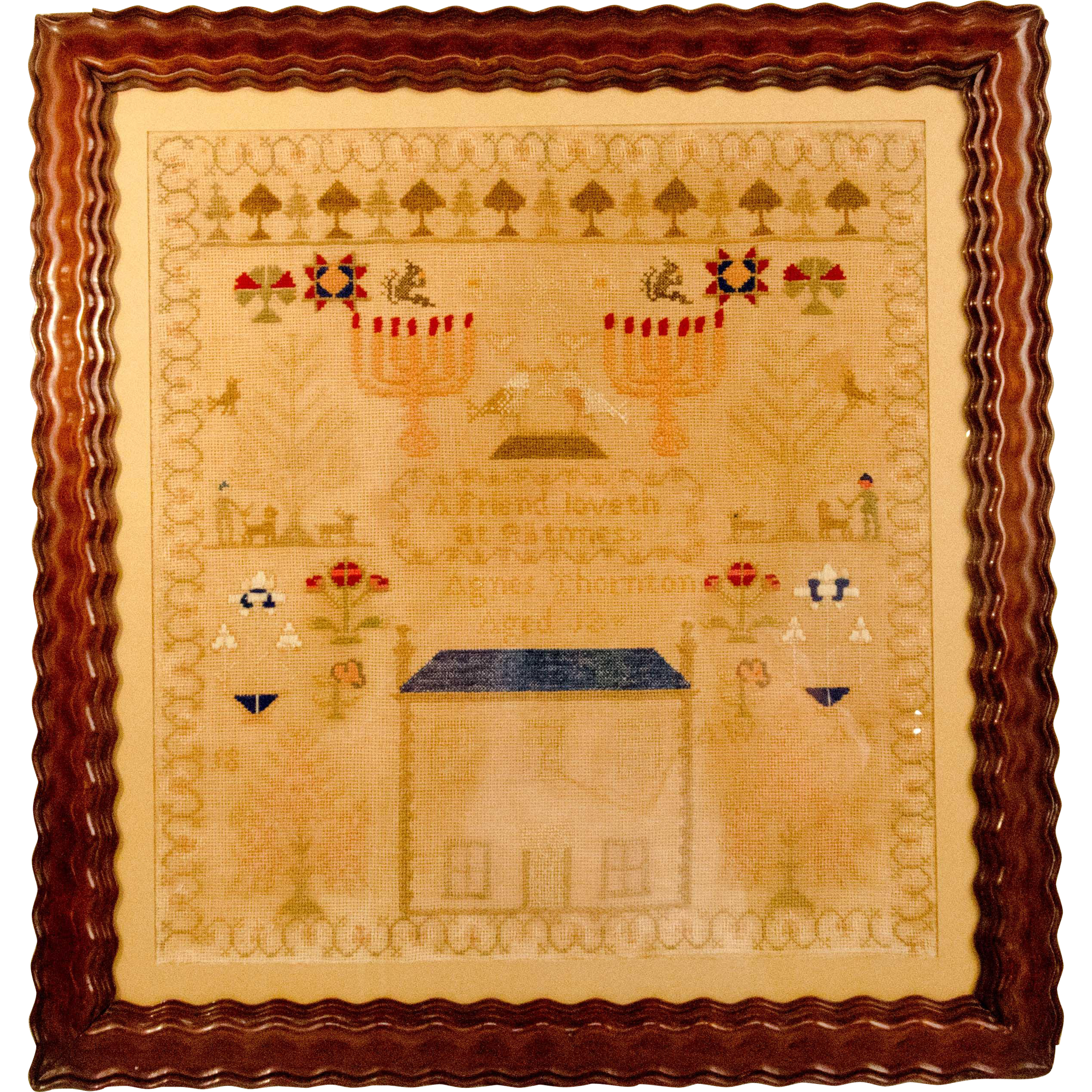 19th Century School Girl Sampler
