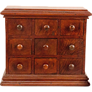 Early 19th Century Walnut Spice Cabinet