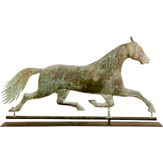 A.L.Jewell Running Horse Weathervane