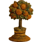 Cast Iron Orange Tree Doorstop