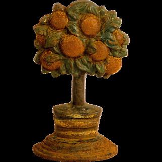 Cast Iron Orange Tree Doorstop