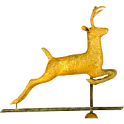 Cushing & White Leaping Stag Weathervane
