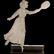 Lady Tennis Player Weathervane