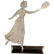Lady Tennis Player Weathervane