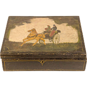 Decorated Document Box - Horse and Carriage