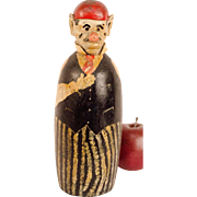 Folk Art Caricature Bottle