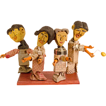 A Group of Four Early Stick Puppets