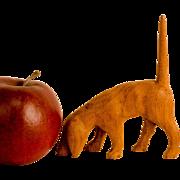 Carved Wooden Hound Dog