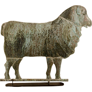 Swell Body Copper Ewe Weathervane