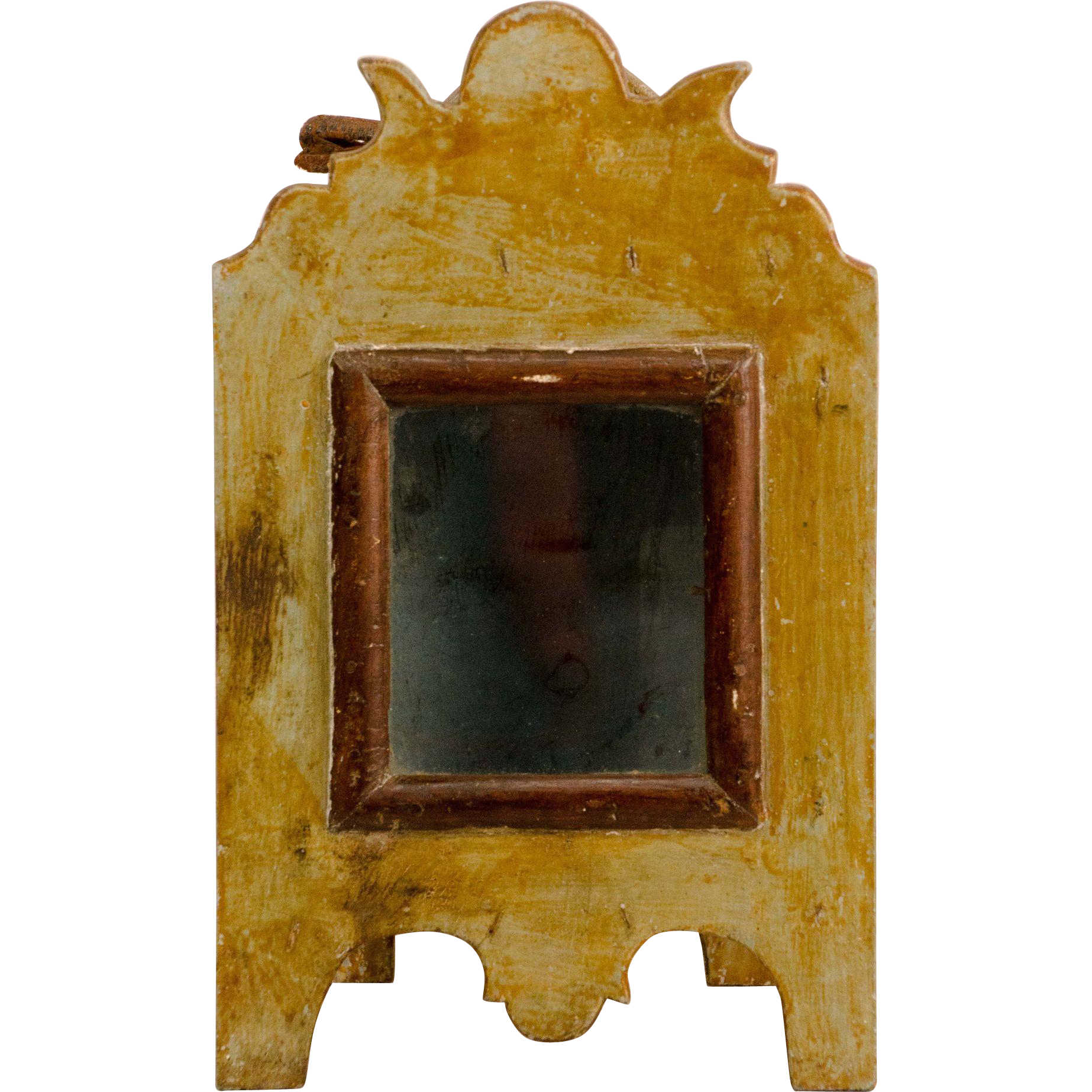 Painted Early 19th Century Hanging Watch Cabinet