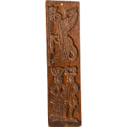 Two-sided Cake/Springerle Board with Adam and Eve Carving