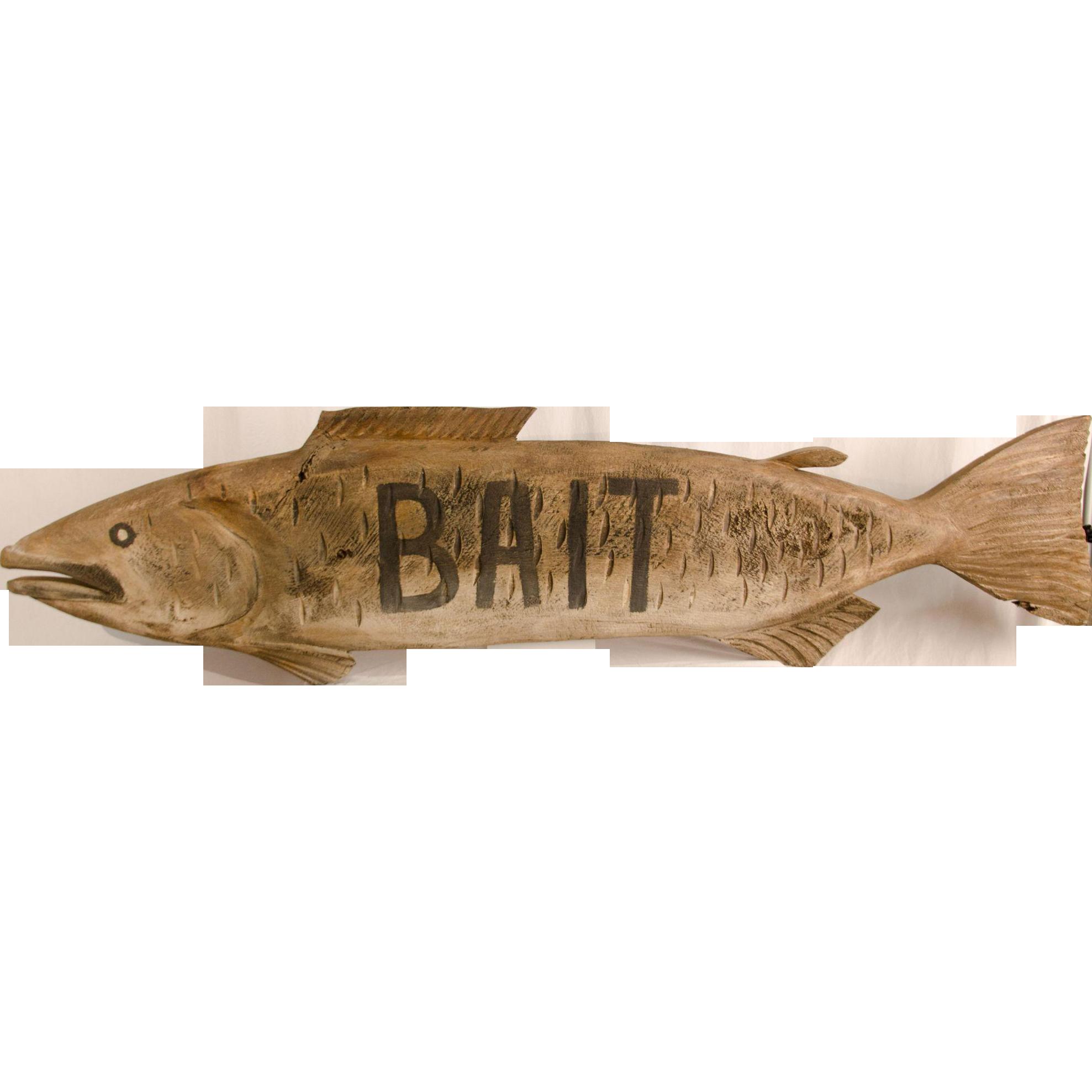 "Fish ""BAIT"" Trade Sign"