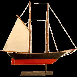 Wooden Schooner Weathervane