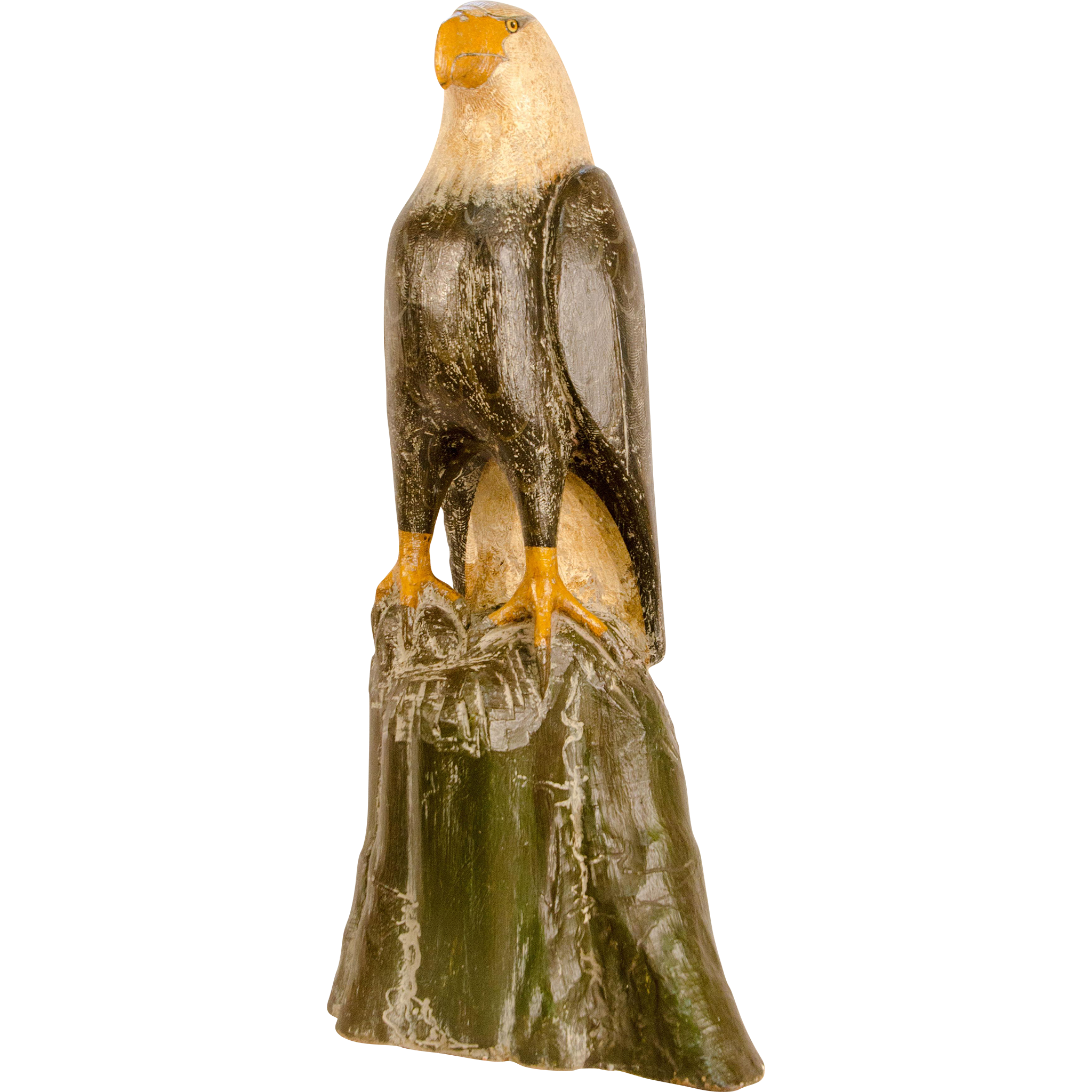 Folk Carved and Painted Eagle