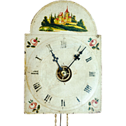 Wag-on-the-wall Clock with Painted Face