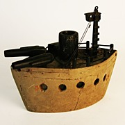 Vintage Folk Art Battleship