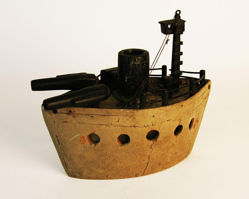 Vintage Folk Art Battleship