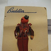 Buddies Military Soldier Pin/Brooch on Original Card