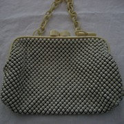 Whiting & Davis Mesh & Celluloid Handbag