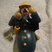 Incense Smoker Vintage Night Watchman Wooden Figure
