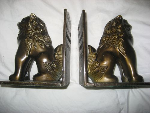 Foo Dog Metal Vintage Japan Bookends