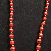 Red Beaded Vintage Necklace