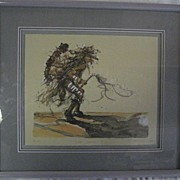 Crow Dancer I Larry Fodor Water Color LE Signed & Numbered
