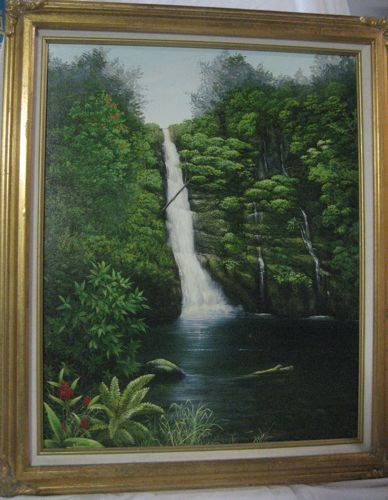 Wedding Day At Pu' Ekele Falls Giclee Signed Glenn T Ichimura