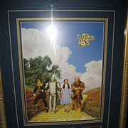 Wizard of Oz Limited Edition Lithograph & Pin Set Framed