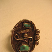 Sterling Silver & Turquoise Vintage Ring