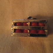 Sterling Silver Crate of Oranges Charm