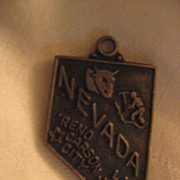 Sterling Silver Nevada Vintage State Charm